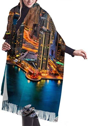 "LONGYUU 27""x 77"" Schal The Super Rich Country Dubai Mädchen Wickelschal Wickelschal Stylish Large Warm Blanket"