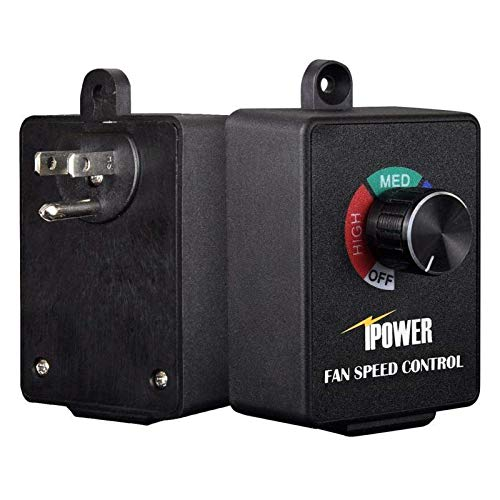 iPower GLFANXCONTROLA Exhaust Variable Vent Controller Inline Duct Fan Speed Adjuster, Max 350W, 1 Pack