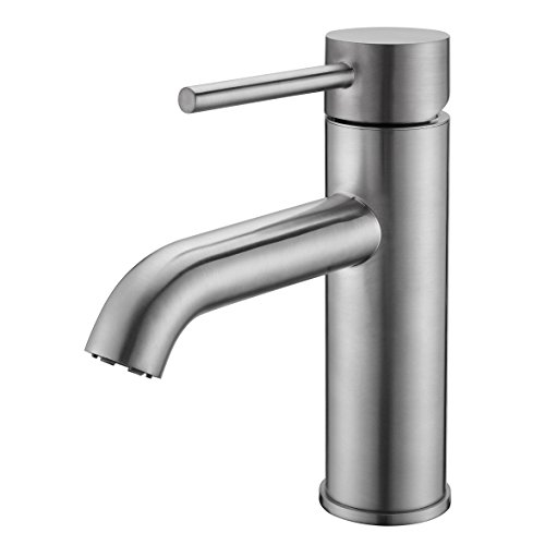 brushed nickel lavatory faucet - 5