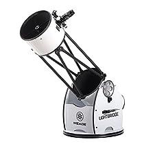 Meade Instruments 1205-05-03 LightBridge 12-Inch Truss Tube Dobsonian Telescope, Open Truss (Black)