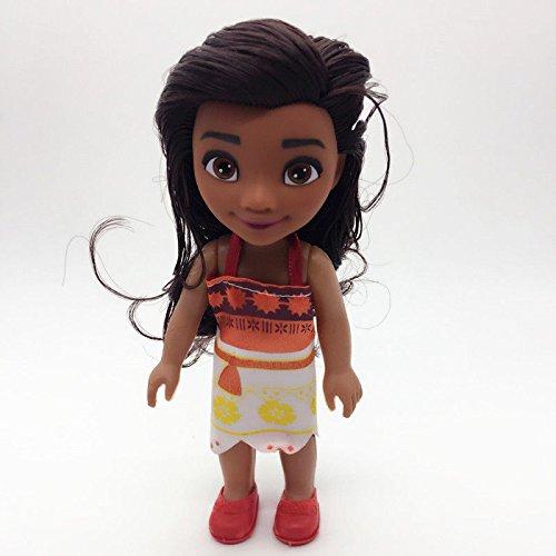 Animators Toddler Moana princess 6'' doll figure kid childhood gift for (Jasmine's Tiger Costume)