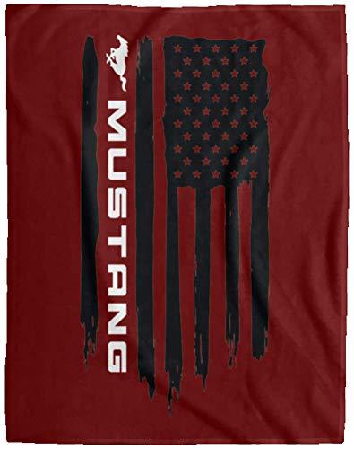 Ford Mustang American Flag Blanket