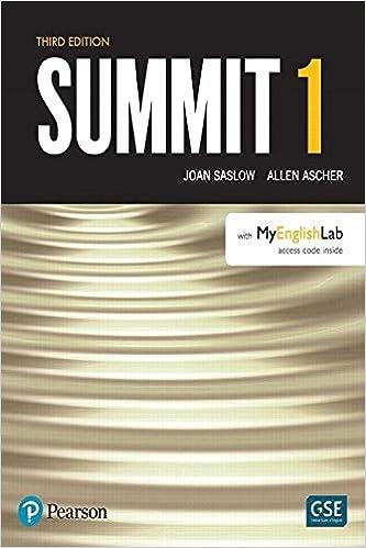 Summit Level 1 With MyEnglishLab 9780134498935