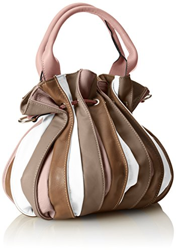 Italy Pink in in leather Cm made CTM genuine Woman's 28x27x28 tote handbag bag Rosa n88Bz7q
