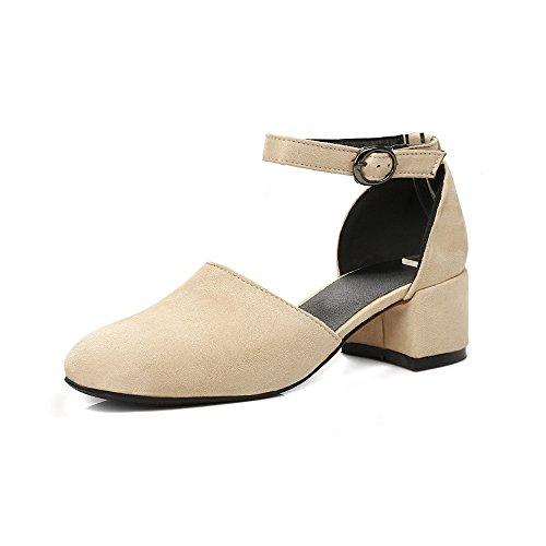 AIWEIYi Women Pumps Square Med Heel Buckle Strap Platform Platform Platform Mary Janes Shoes B01NH10TLD Parent a67d41
