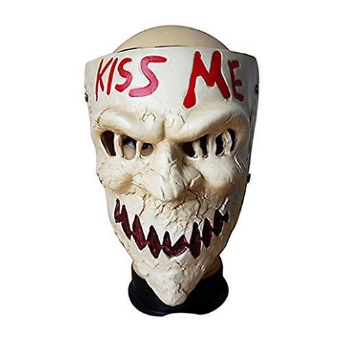 Purge Scary Sugar Masks Kiss Me Masque Halloween Cosplay Accessory (Beige) -