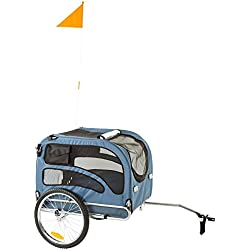 Rage Powersports PT-20304-B Blue 2-in-1 Pull-Behind Dog Bike Carrier Bicycle Pet Trailer