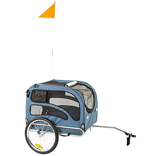 Rage Powersports PT-20304-B Blue 2-in-1 Pull-Behind Dog Bike Carrier Bicycle Pet Trailer ,1 Pack (Trailer Behind Pull)