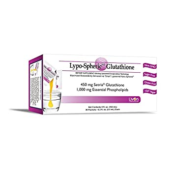 Image of Lypo–Spheric Glutathione - 2 Cartons (60 Packets) – 450 mg Glutathione Per Packet – Liposome Encapsulated for Improved Absorption– Professionally Formulated, 100% Non–GMO Health and Household