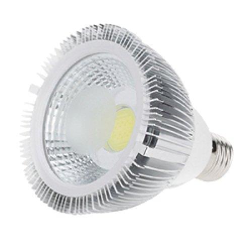 Bombilla Led PAR30 casquillo E27 de 8W - Luz Neutra 4000/4500k - 700 Lm - Led COB Brigelux - CRI 80 en aluminio: Amazon.es: Iluminación