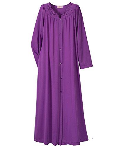 UPC 044256372207, Shadowline Women's Plus-Size Petals 54 Inch Long Sleeve Long Coat, Purple, 1X