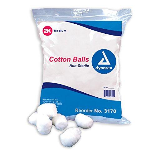 Sterile Cotton Non Balls (Cotton Balls, Non-Sterile, Medium 2000/Bag)