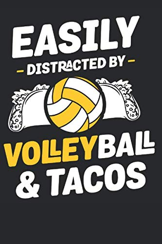 Easily Distracted by Volleyball: Volleyball Paperback Journal,