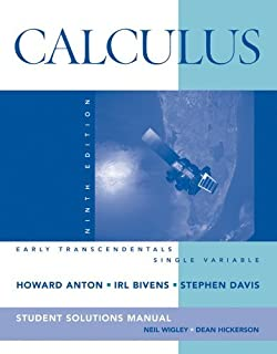Calculus early transcendentals single variable howard anton by howard anton calculus early transcendentals single variable student solution manual fandeluxe Choice Image