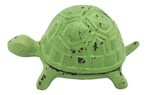 Turtle Cast Iron Metal Key Hider Decor