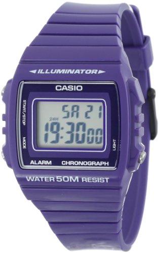 Casio Unisex W-215H-6AVCF Classic Purple Digital Stop Watch