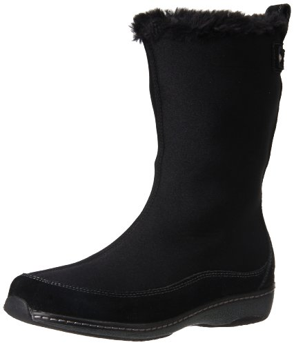 Boot Women's Aetrex Furry Black Berries Calf Mid 4wqXa
