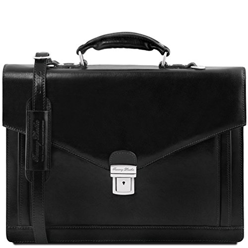 Tuscany Leather - Volterra - Porta Folios Tl Smart Leather With Two Compartments - Tl141350 (black) Black