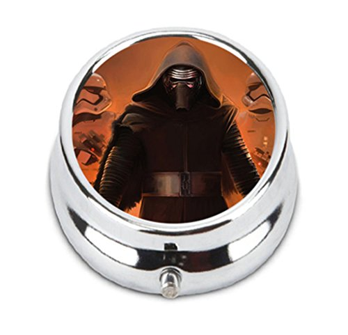 tar wars the force awakens kylo ren Personalized Durable Stainless Steel Pill Box Jewelry Case