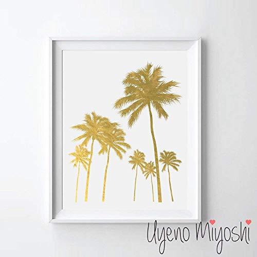 Palm Trees Gold Foil Art Print California Palm Tree I Gold Print Modern Gold Wall Art Decor Home Office Nursery Gold Art Wall Decor 08 x 10