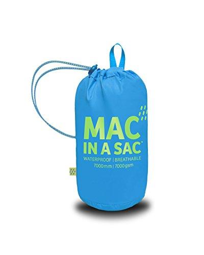 Nuova Nuova Impermeabile Unisex a Neon Packaway Packaway Packaway Neon Blue Sac® Giacca in Mac tqaU1Y1