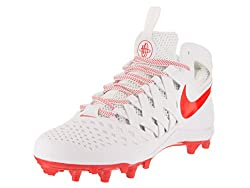 Nike Men's Huarache V Lax Whitelt Crimson Cleated Shoe 9.5 Men Us