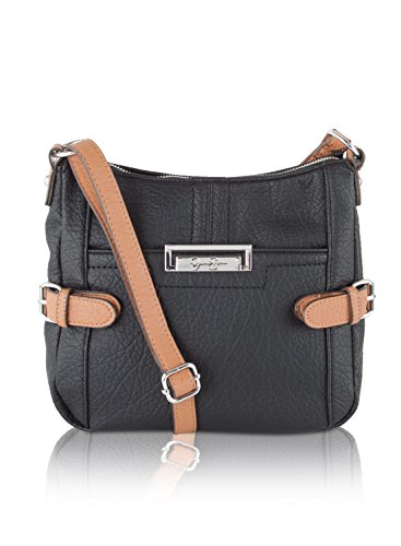 Jessica Simpson Kady Crossbody Bag - Black/Cognac
