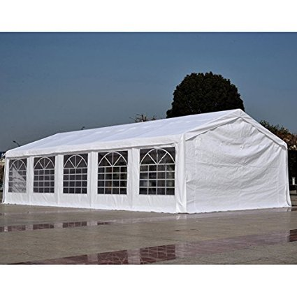 Side Party Tent Pole Frame (Quictent Heavy Duty Outdoor Gazebo Wedding Party Tent BBQ Canopy Carport with Side Walls (20' x 32' white) +Authentic Product Only Sold by)