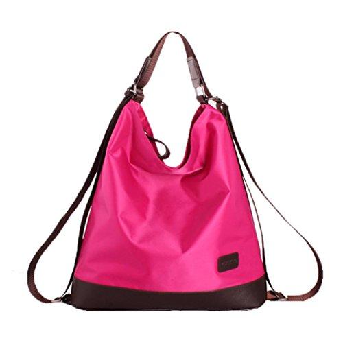 Clode® Moda bolsos Nylon impermeable bolso mochila nueva multifuncional Color de rosa caliente