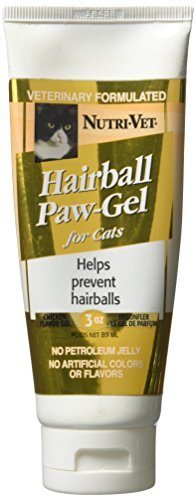 Nutri-Vet Feline Hairball Control Gel - Chicken Flavor - 3.0 oz - Hairball Paw Gel Helps Reduce Hairball Formation in Cats of All Ages