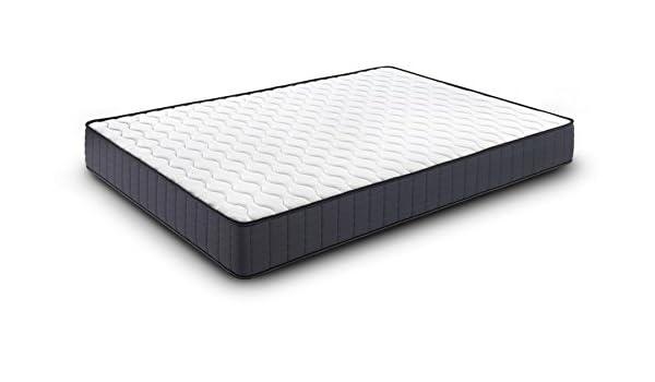 SUENOSZZZ - Colchón Viscoelástico Premium Shine (Altura 24 cms, (4 cms)) (90 x 180 x 24 cms) - Color - Blanco/Gris: Amazon.es: Hogar