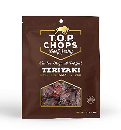 (T.O.P. Chops Teriyaki -Soft & Tender Gourmet Beef Jerky (5 pack))