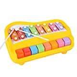 2 in 1 Piano for Kids,aPerfectLife Baby Xylophone Piano Toys Kids Educational Musical Instruments Preschool Toy Knock Playing Birthday Christmas Gift (Random Color)