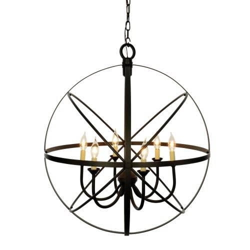 Miseno MLIT155241 6-Light Cage Orb Chandelier, Oil Rubbed Bronze