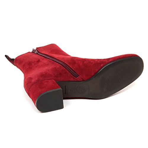 Suede Woman Maliparmi Scarpe Bordeaux Donna E6498 Shoe Boot Tronchetto zwxFqRw6