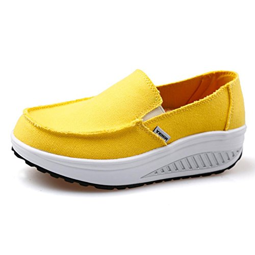 Xue Women's Shoes Spring Fall Loafers & Slip-Ons Driving Shoes Fitness Shake Shoes Shake Shoes Shaking Shoes Flat Loafers Sneakers Athletic Shoes Platform Shoes (Color : C, Size : 39) H
