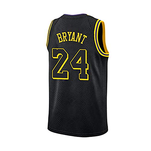 (Basketball Sweatshirts for Men and Women, Suitable for: Lakers 24th Sportswear, Black Mamba 8 Training Suits, Sports Vest Tops + Shorts suits-5-XXL)