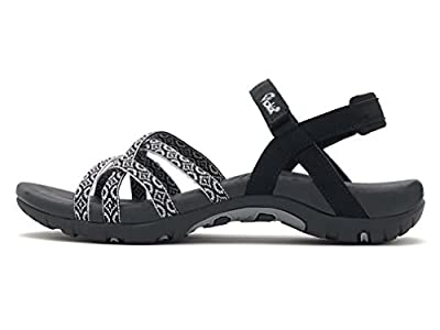 Viakix Walking Sandals Women- Athletic Sport Sandals for Hiking Water Outdoors