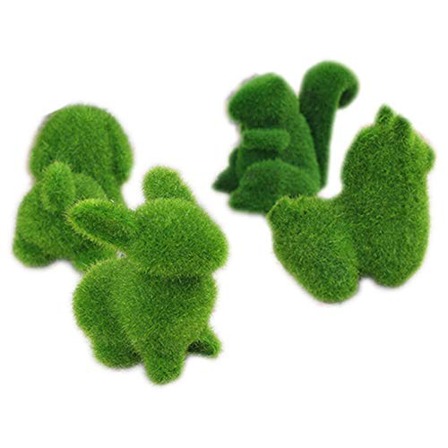 SaveStore Animal Figurine Grass Land Cute Small Animals Artificial Grass Animals Designs Decorations Artificial Turf Home Decor Decoration