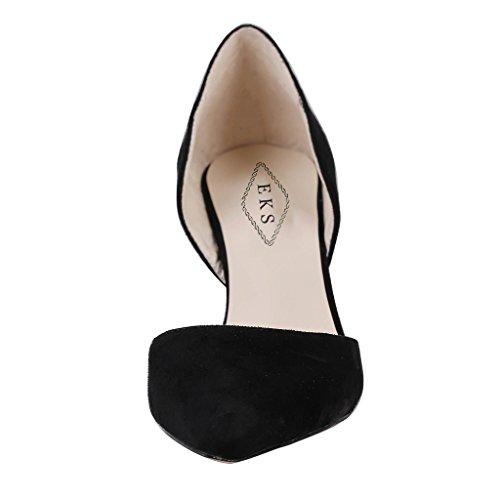 EKS - Zapatos de Tacón Mujer Negro - Schwarz-Wildleder