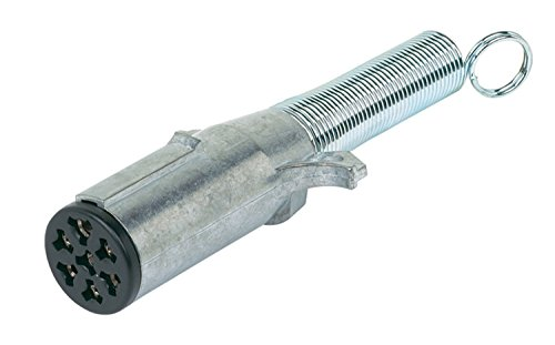 Hopkins 52027 7 Way Pin Type Trailer End Connector with Cable Protector