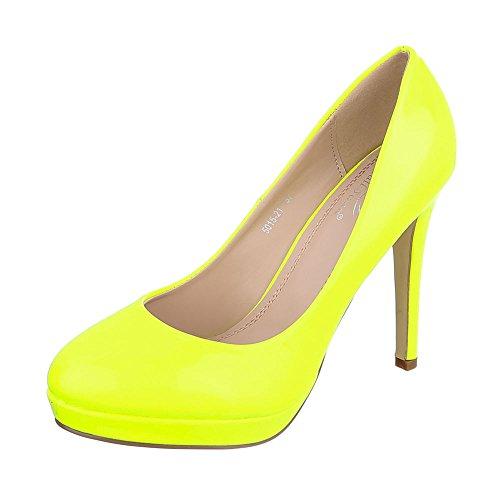 Femme Jaune Compensées design Chaussures Ital qW6tS6