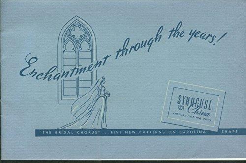 Syracuse China Enchantment Through the Years catalog Bridal Chorus -