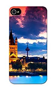 OXc27YZaXS Anti-scratch Case Cover Resignmjwj Protective Cologne Cathedral At Dusk Case For Iphone 5/5s