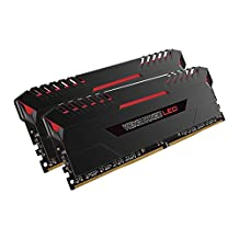 Corsair CMU16GX4M2A2666C16R Vengeance Memory 16GB (2x8GB) 2666 (PC4-21300) C16 for DDR4 Systems, Red Led