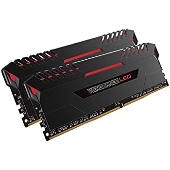Corsair Vengeance 16GB (2x8GB) DDR4 2666 (PC4-21300) C16 for DDR4 Systems, Red LED (CMU16GX4M2A2666C16R)