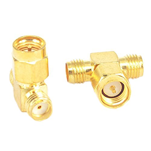 RF Coax Adapter SMA Male to Dual SMA Female Connector Splitter Antenna Converter Pack of (1 Coax Connector)