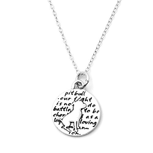 Kevin N Anna Pitbull (Pitbull quote) Sterling Silver Small Pendant Necklace