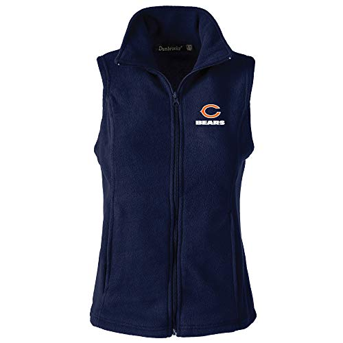 Lady Bears - NFL Chicago Bears Womens Houston Ladies Fleece Vest, Navy, Small