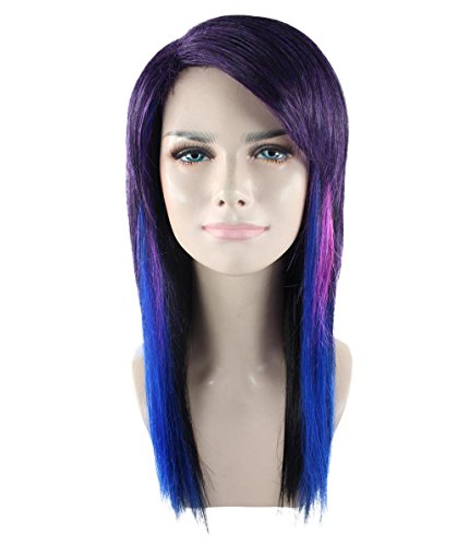 Rockin' Witch Adult Costumes (Halloween Party Online Hard Rockin Witch Wig, Tri-Color Adult HW-1696A)